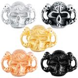 Stainless Steel Big Hole Skull Beads AA795 VNISTAR Stainless Steel European Beads