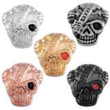 Stainless Steel Big Hole Skull Beads AA803 VNISTAR Stainless Steel European Beads