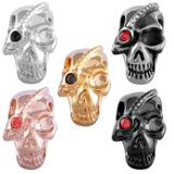 Stainless Steel Big Hole Skull Beads AA804 VNISTAR Stainless Steel European Beads