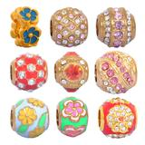 50pcs/bag Mix Designs Stainless Steel Beads MC012 VNISTAR Metal Charms