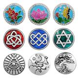 50pcs/bag Mix Designs Snap Button Charms MC013 VNISTAR Metal Charms