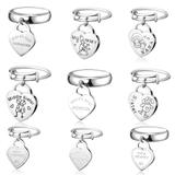 20pcs/bag Mix Designs Stainless Steel Charm Rings MC017 VNISTAR Metal Charms