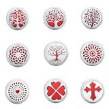 20pcs/bag Mix Designs Stainless Steel Car Diffuser Lockets MC018 VNISTAR Metal Charms