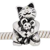 Vnistar metal alloy european cat and mouse beads PBD852 PBD852 VNISTAR Alloy Plain Beads