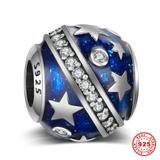 Star 925 Sterling Silver European Beads S005 VNISTAR 925 Silver Charms