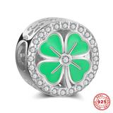Four-Leaf Clover 925 Sterling Silver European Beads S011-2 VNISTAR 925 Silver Charms
