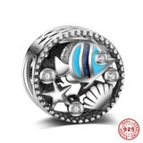 Underwater World 925 Sterling Silver European Charm S068 VNISTAR 925 Silver Charms