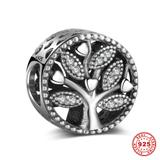 S925 Sterling Silver European Charms S070 VNISTAR Silver Love Family Charms