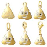 Stainless Steel Emoji Charms VC006G VNISTAR Emoji Steel Charms