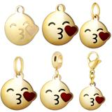 Stainless Steel Emoji Charms VC007G VNISTAR Emoji Steel Charms