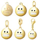 Stainless Steel Emoji Charms VC008G VNISTAR Emoji Steel Charms