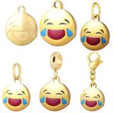 Stainless Steel Emoji Charms VC009G VNISTAR Emoji Steel Charms