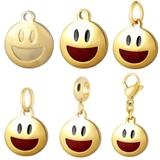 Stainless Steel Emoji Charms VC010G VNISTAR Emoji Steel Charms