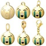 Stainless Steel Emoji Charms VC011G VNISTAR Emoji Steel Charms