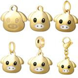 Stainless Steel Emoji Charms VC017G VNISTAR Emoji Steel Charms