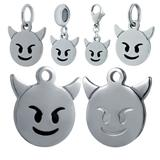 Stainless Steel Emoji Charms VC023 VNISTAR Emoji Steel Charms