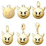 Stainless Steel Emoji Charms VC023G VNISTAR Emoji Steel Charms