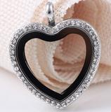 Vnistar metal alloy crystal heart locket pendant VSP055 VSP055 VNISTAR Metal Charms